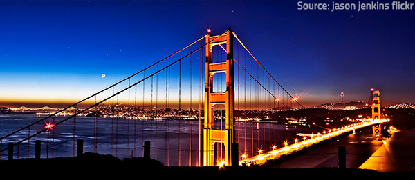 Golden Gate Bridge is among the most magnificent San Francisco attractions.