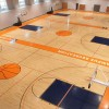 Hardwood gym flooring