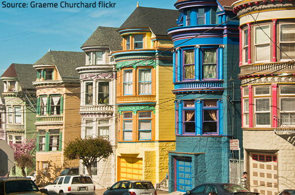 Real estate in San Francisco.