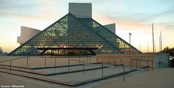 Rock-and-roll-hall-of-fame-sunset-Cleveland-OH