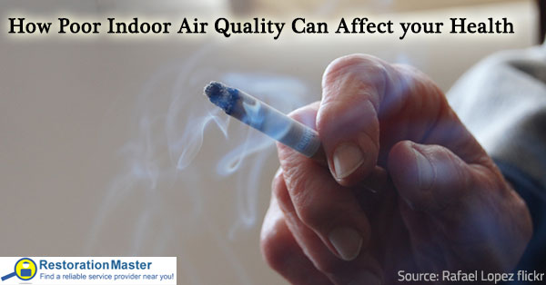 Poor indoor air quality has negative effects on health.
