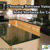 Countertop materials comparison.