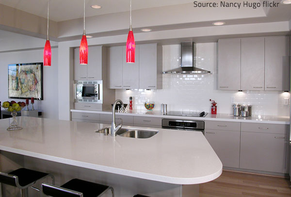 Quartz is extremely hard, so quartz surfaces are strogn and durable.