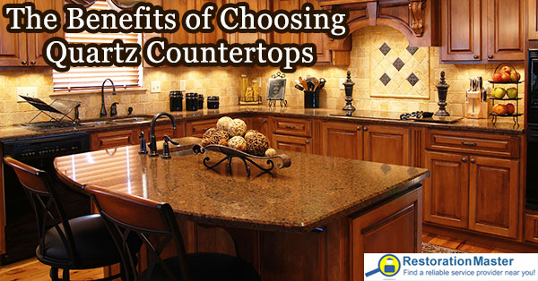 Benefits of quartz countertops.