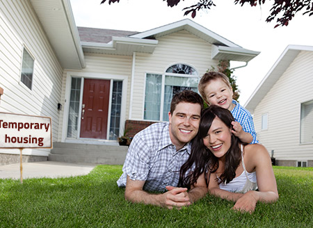 Moving to temporary housing is a viable option.
