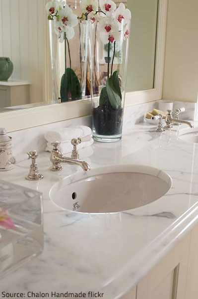 Marble surfaces increase the value of your home.