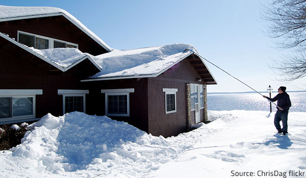 Take proper measures to prevent snow damage.