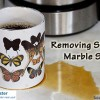 How to remove stains from marble.