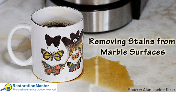 How to Remove Stains from Marble Surfaces