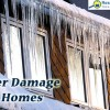 Winter damage to homes