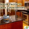 Sealing granite countertops.