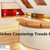 Trends in kitchen countertops for 2016.