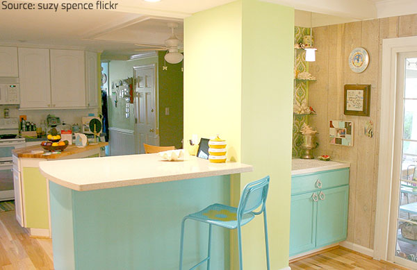 KItchen countertop styles and colors become more and more futuristic.
