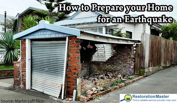 Preparing for an earthquake.