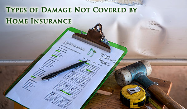 Types of Damage Not Covered by Homeowner's Insurance
