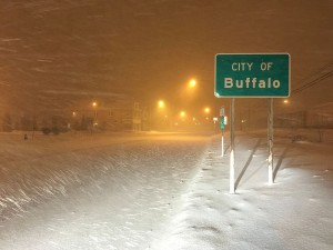 Blizzard in Buffalo caused by lake effect snow.