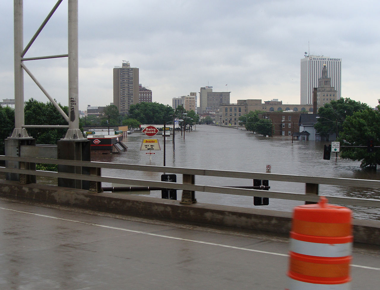 Flood Of 2008 in Cedar Rapids, IA