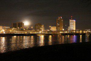 Downtown Cedar Rapids overlooking the Cedar River.