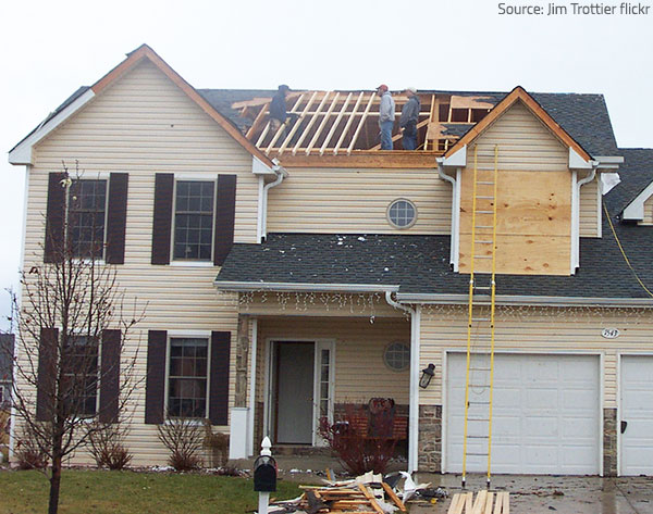 Hire experienced storm damage restoration professionals to take care of your damaged property aftre a storm.