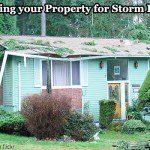 Property damage inspection after a storm.