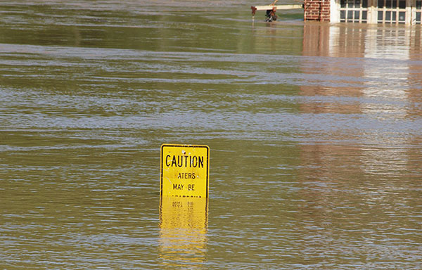 Flood water may be contaminated.