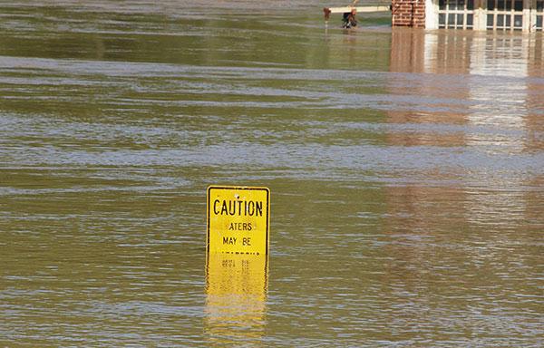 Flood water may be contaminated.