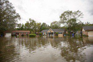 Flooding in Charleston, SC from Hurricane Matthew