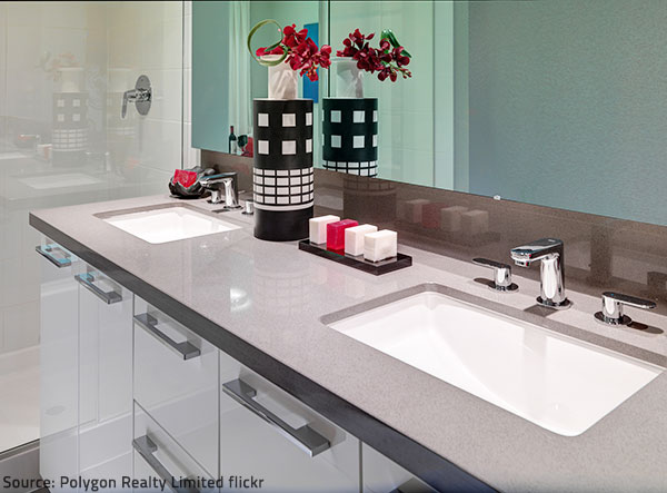 Luxury bathroom countertops highlight the beauty of your bathroom.