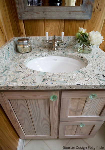 Glass Countertops Offer An Innovative, Fun Solution For Your Bathroom.