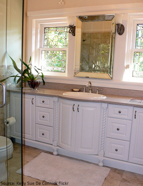 Modern bathroom countertops greatly improve the appeal and practicality of a bathing space.