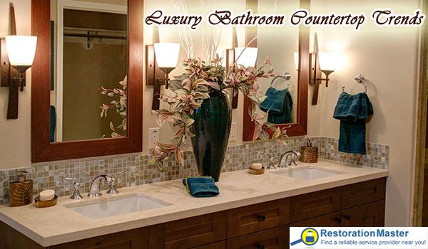 Bathroom countertop trends change over the years.