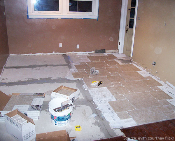 It is not easy to install porcelain tile flooring.