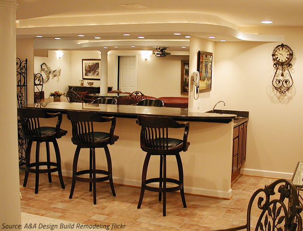 A Stone Home Bars Adds Elegance And Comfort To The Space.