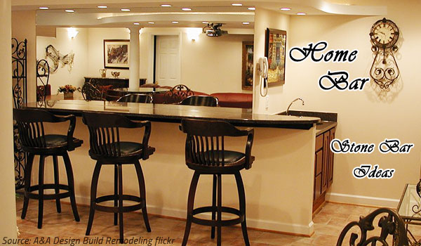 The Home Bar Natural Stone Design Ideas