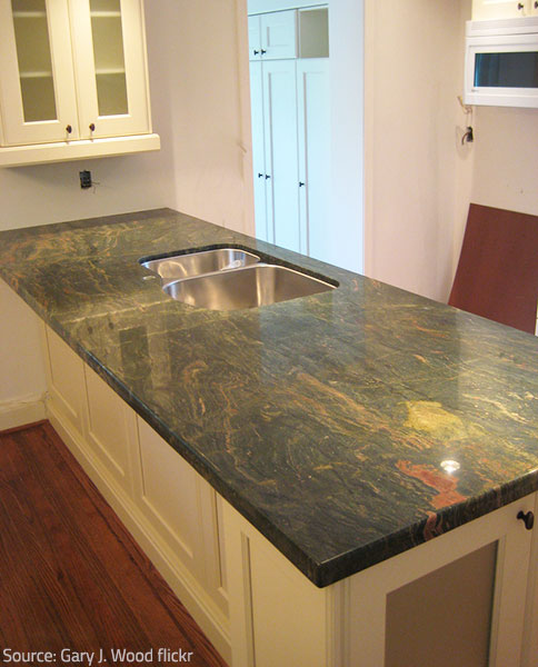 Countertop installation requires good organization.