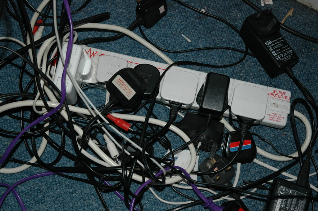 fire damage from overloaded powerstrip