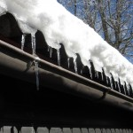 Cold Roof Winter Icicle Ice Gutter Snow Sparkle