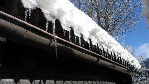 ice snow on roof