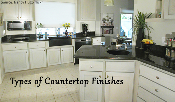 Guide to the different types of countertop finishes.