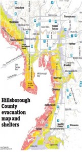 Hillsborough county evacuation map and shelters