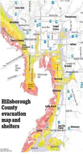 Tips To Prepare For Hurricane Season Emergency Supply Checklist - Hillsborough county map