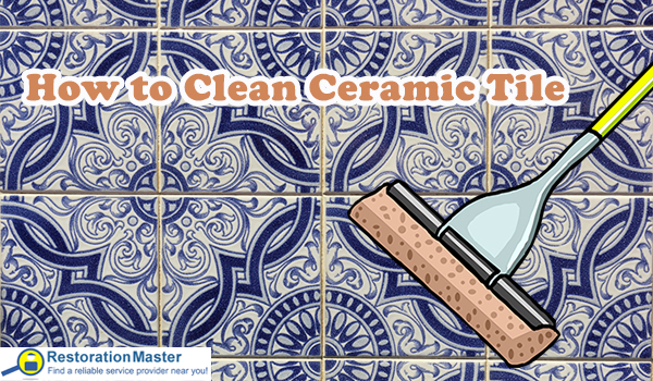The best way to clean ceramic tile.