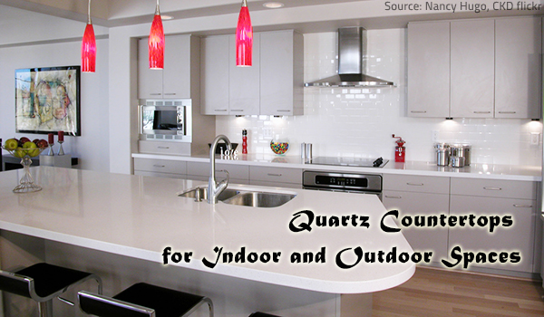 The many uses of quartz countertops.