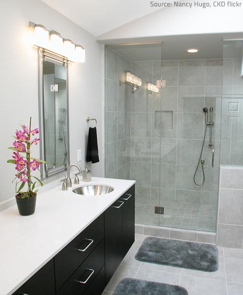 Quartz bathroom countertops are rapidly gaining popularity.