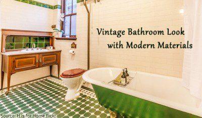 Bathroom Restoration U2013 Vintage Look With Modern Materials