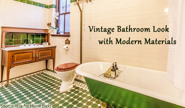 Creating a vintage bathroom with the help of modern materials.