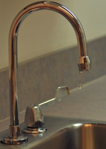 Leaking faucets can lead to major water damage.