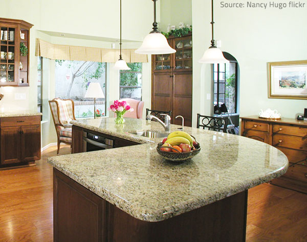 Granite countertops attract a lot of attention.