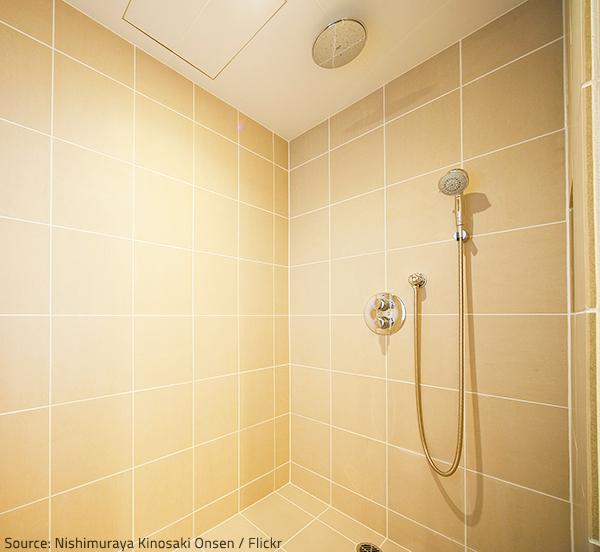 Make sure your wet room is waterproof.