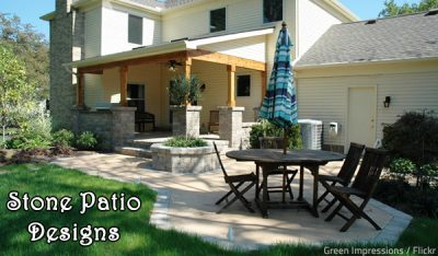 Outdoor Patio Stone Designs and Fire Features